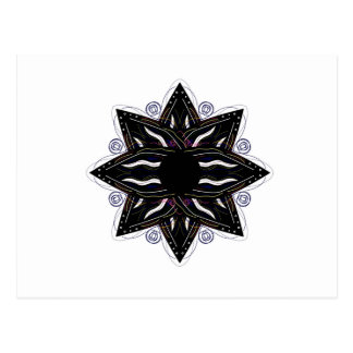 Luxury ornament  black on white postcard