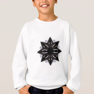 Luxury ornament  black on white sweatshirt
