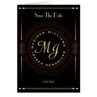 Luxury ornamental save the date wedding card