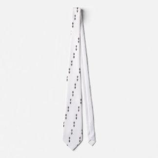 Luxury ornaments black on white tie