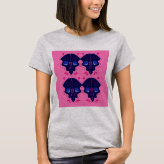 Luxury Ornaments blue pink T-Shirt