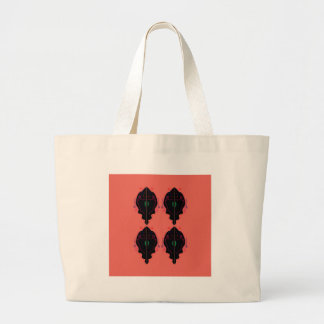 Luxury ornaments painted large tote bag