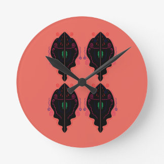 Luxury ornaments painted round clock