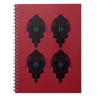Luxury ornaments red black notebooks