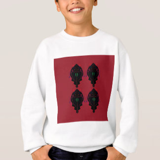 Luxury ornaments red black sweatshirt