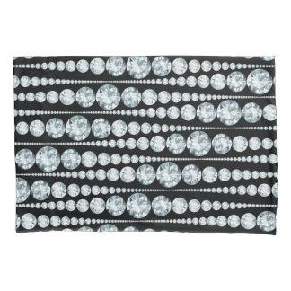 Luxury Pattern with white Diamond Stripes Pillowcase