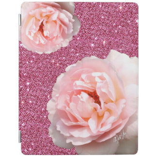 Luxury Pink Glitter Floral iPad 2/3/4 Smart Cover iPad Cover