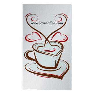 Luxury Platinum Love Coffee Cafe Business Card