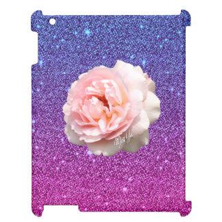 Luxury Purple Glitter Floral iPad 2/3/4 Slim Case Case For The iPad 2 3 4