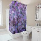 Luxury Purple Metal Foil Glitter honeycomb pattern
