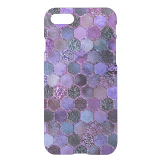 Luxury Purple Metal Foil Glitter honeycomb pattern iPhone 8/7 Case