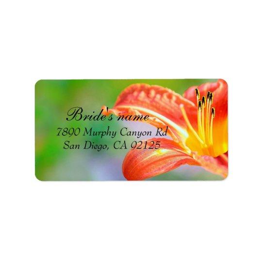 Luxury Red Hibiscus Flower Address label