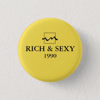 Luxury Rich 1990 1 Inch Round Button