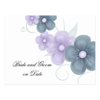 Luxury Romantic Spring Floral Save date card Postcard