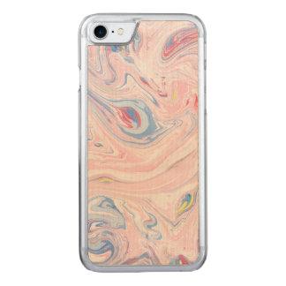 Luxury Rose Pink Marble Pastel Elegant Modern Art Carved iPhone 8/7 Case
