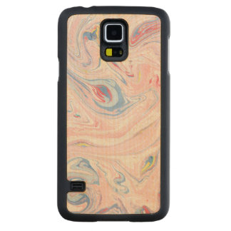 Luxury Rose Pink Marble Pastel Elegant Modern Art Carved Maple Galaxy S5 Case