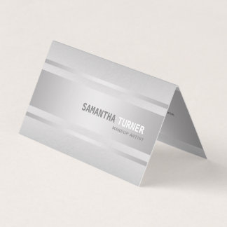 Luxury Silver Faux Textured Professional Business Card