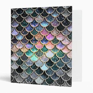 Luxury silver Glitter Mermaid Scales 3 Ring Binders