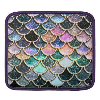 Luxury silver Glitter Mermaid Scales iPad Sleeve