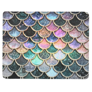 Luxury silver Glitter Mermaid Scales Journal