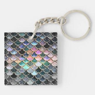 Luxury silver Glitter Mermaid Scales Keychain