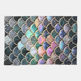 Luxury silver Glitter Mermaid Scales Kitchen Towel