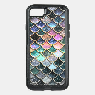 Luxury silver Glitter Mermaid Scales OtterBox Commuter iPhone 8/7 Case