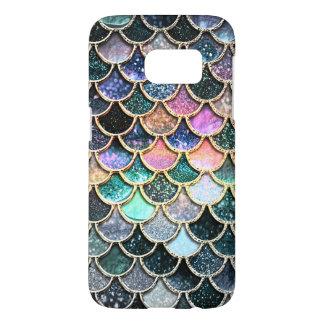 Luxury silver Glitter Mermaid Scales Samsung Galaxy S7 Case