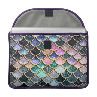 Luxury silver Glitter Mermaid Scales Sleeve For MacBooks