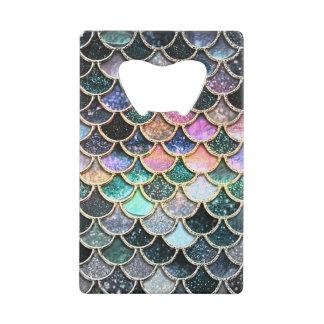 Luxury silver Glitter Mermaid Scales Wallet Bottle Opener
