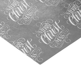 Luxury Silver Merry Christmas Religious Script Tissue Paper