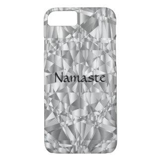 Luxury Silver Namaste iPhone 8/7 Case