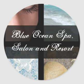 Luxury Spa Resort Theme Classic Round Sticker