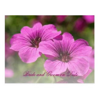 Luxury Spring Cranesbill Garden Save date card Postcard