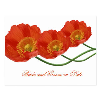 Luxury Spring Poppy Floral Save date card Postcard