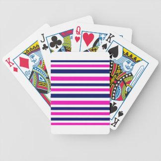 Luxury stripes pink blue poker deck