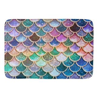 Luxury summerly multicolor Glitter Mermaid Scales Bath Mat