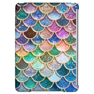 Luxury summerly multicolor Glitter Mermaid Scales Cover For iPad Air