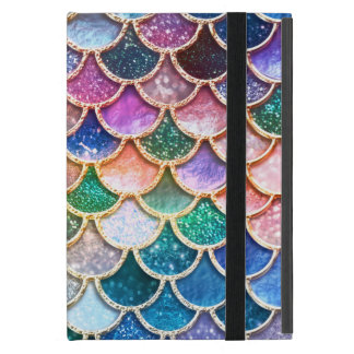Luxury summerly multicolor Glitter Mermaid Scales iPad Mini Case