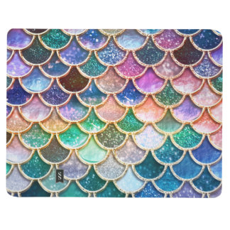Luxury summerly multicolor Glitter Mermaid Scales Journal