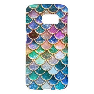 Luxury summerly multicolor Glitter Mermaid Scales Samsung Galaxy S7 Case