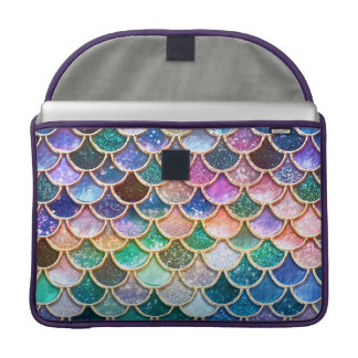 Luxury summerly multicolor Glitter Mermaid Scales Sleeve For MacBook Pro