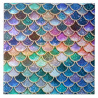 Luxury summerly multicolor Glitter Mermaid Scales Tile
