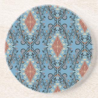Luxury vintage royal floral pattern for DIY Beverage Coaster