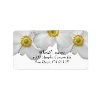 Luxury White Spring Floral Address label