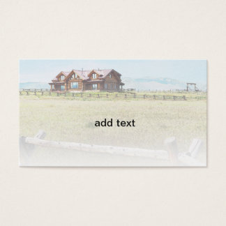 luxury wood home in Colorado Business Card