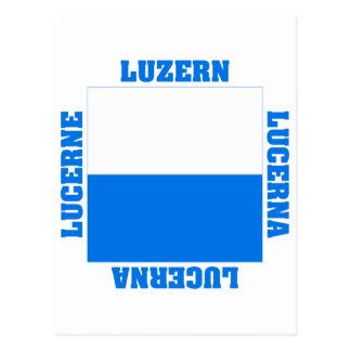 Luzern Switzerland Canton Flag Post Card