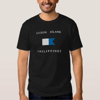 Luzon Islands Philippines Alpha Dive Flag Tshirts