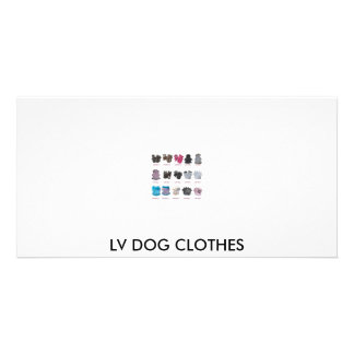 LV DOG CLOTHES PHOTO GREETING CARD
