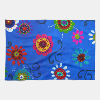 LV WHIMSICAL FLOWERS I KITCHEN TOWEL